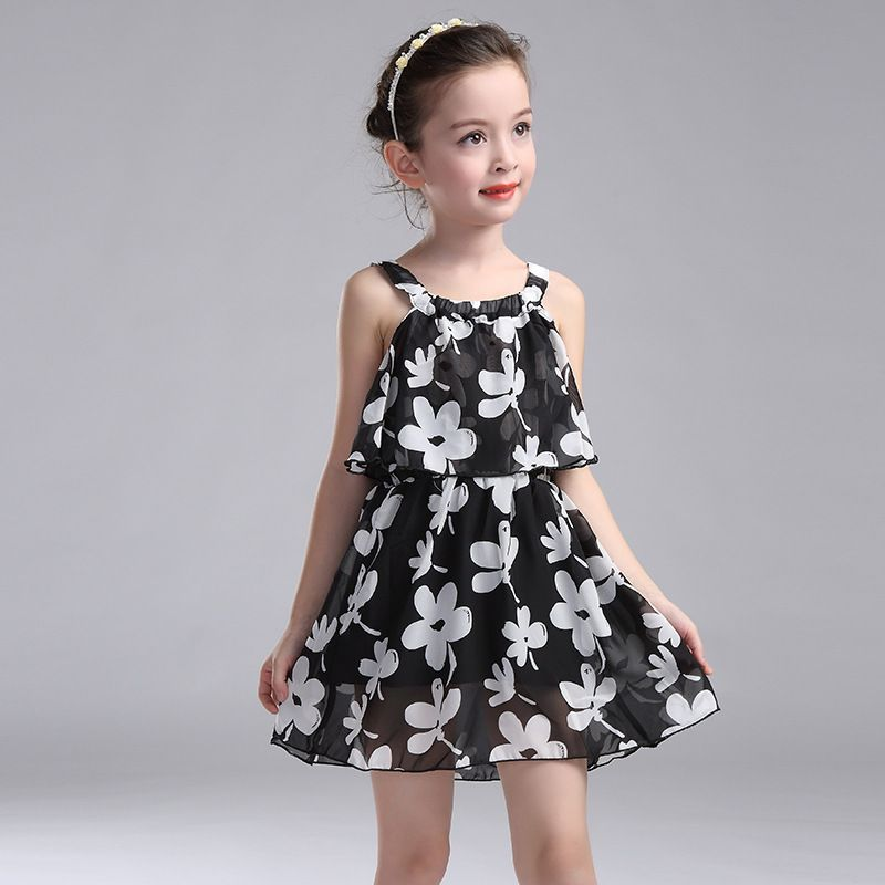506a731164ba Kids Dresses For Girls Children Clothing 2017 New Year Chiffon Party Dress  Girls Floral Summer Sundress 2 3 4 6 8 10 11 12 Years