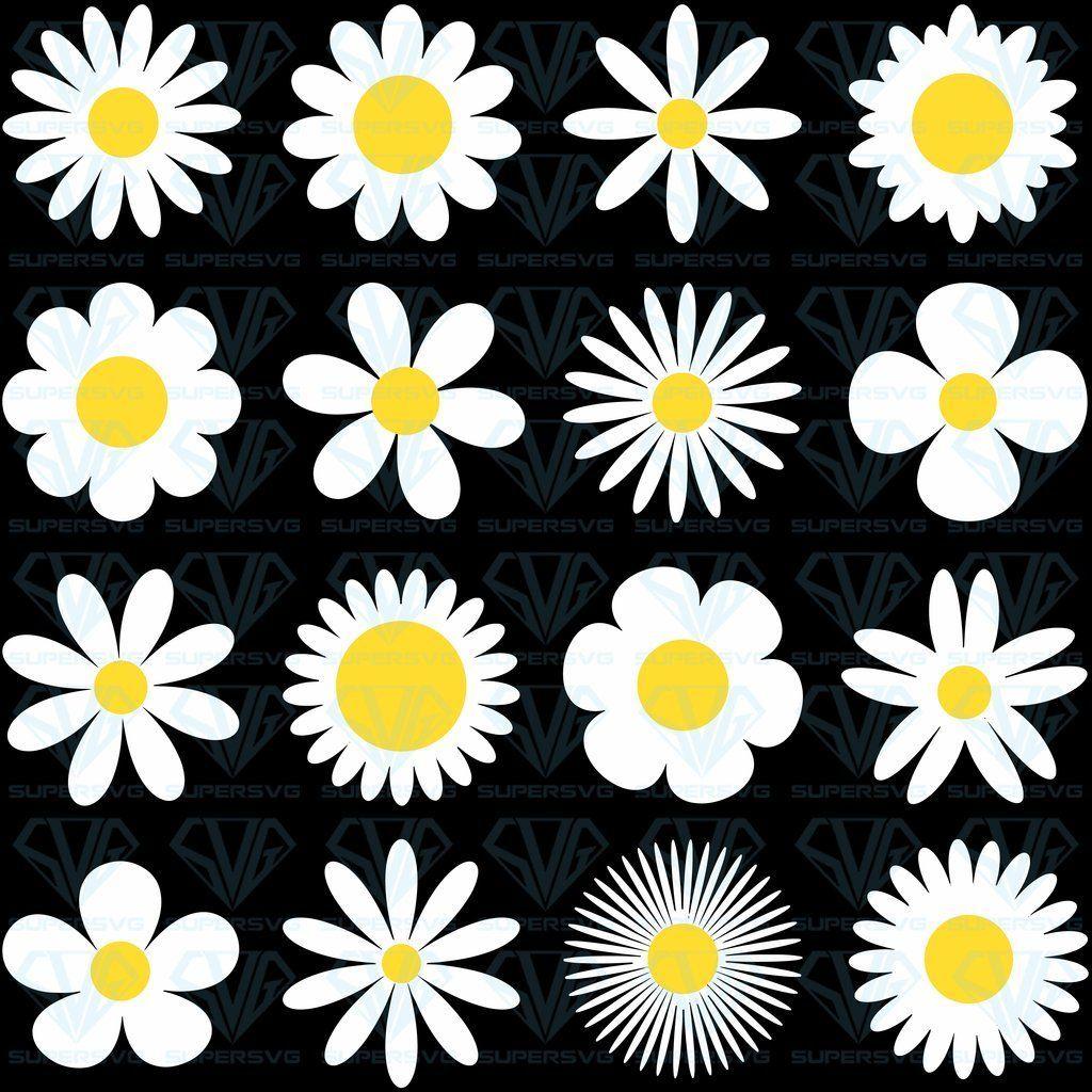 Flower svg White Daisy Chamomile Icon Camomile SVG Files