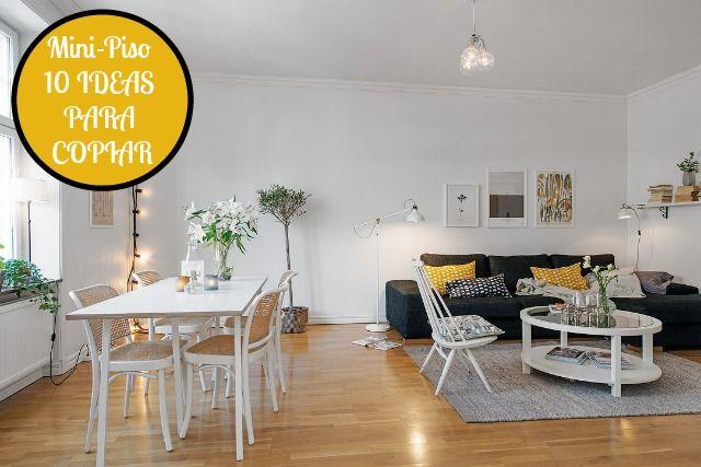 10 ideas para una casa de menos de 40 metros cuadrados apartamentos mini piso decoraci n de - Decorar un piso ...