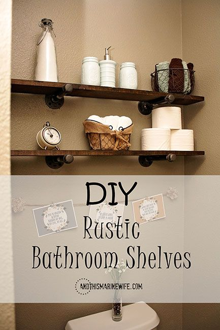 Make These Super Easy Rustic Bathroom Shelves And Customize Them To Fit  Your Specific Storage Needs In Your Bathroom!   #MegaPrepped [ad] @walmart