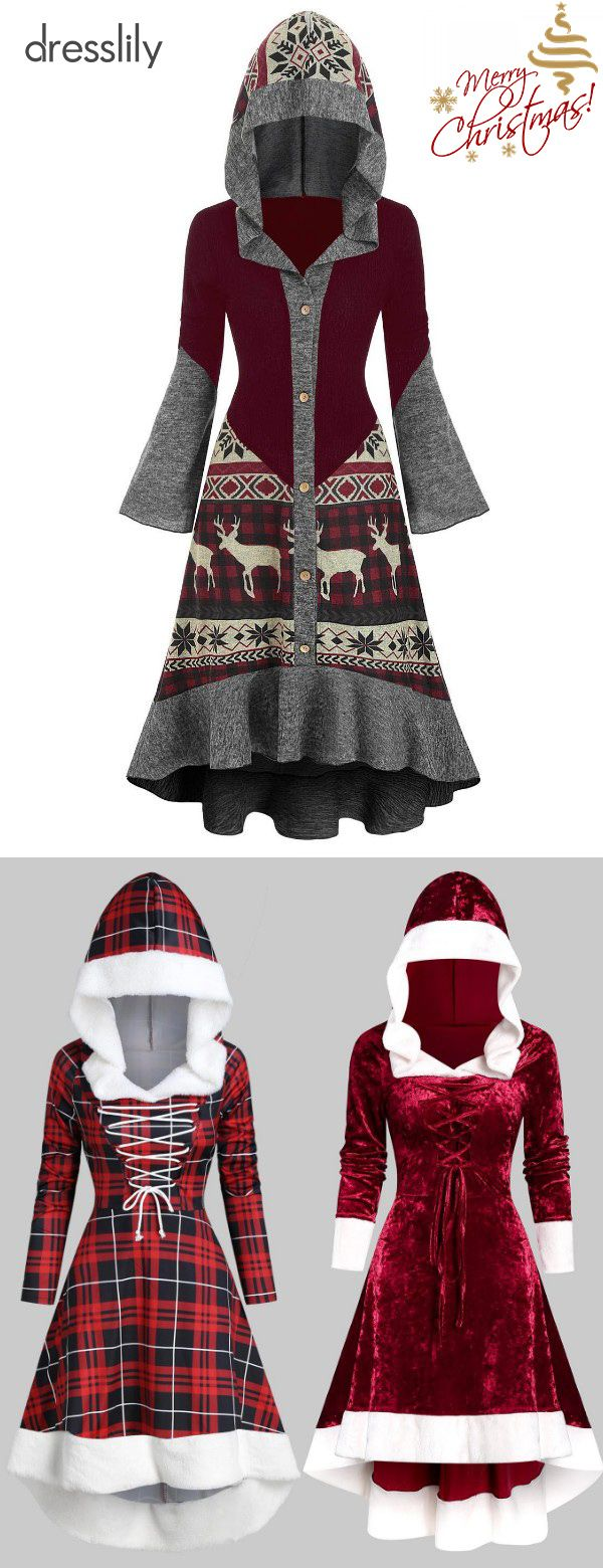 Ladies Novelty Christmas Dress | Red Christmas Dress for Women  #christmaspartyoutfit