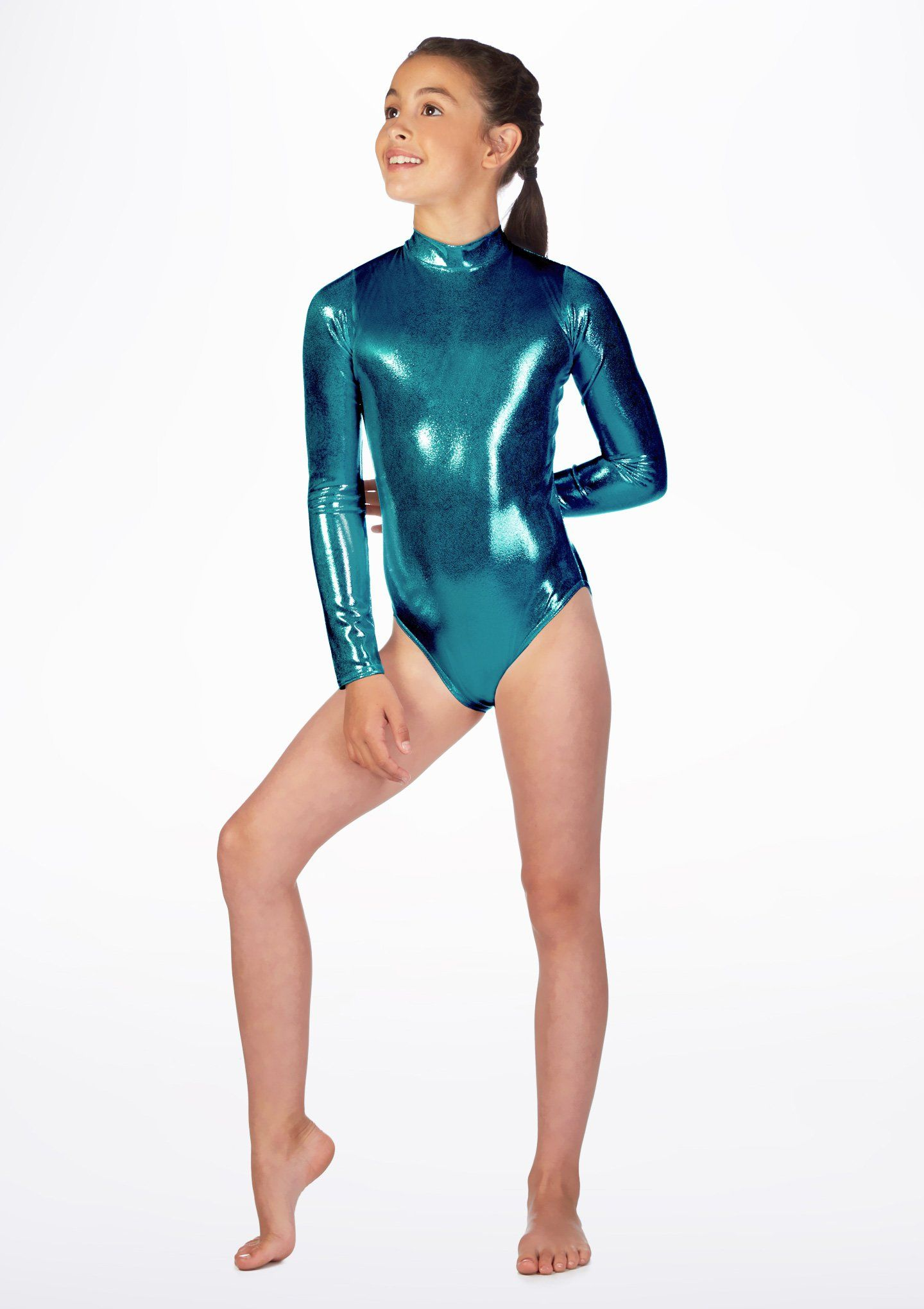 82d68e2974 Alegra Girls Metallic Ashlyn Leotard | Gym | Leotards, Childrens ...