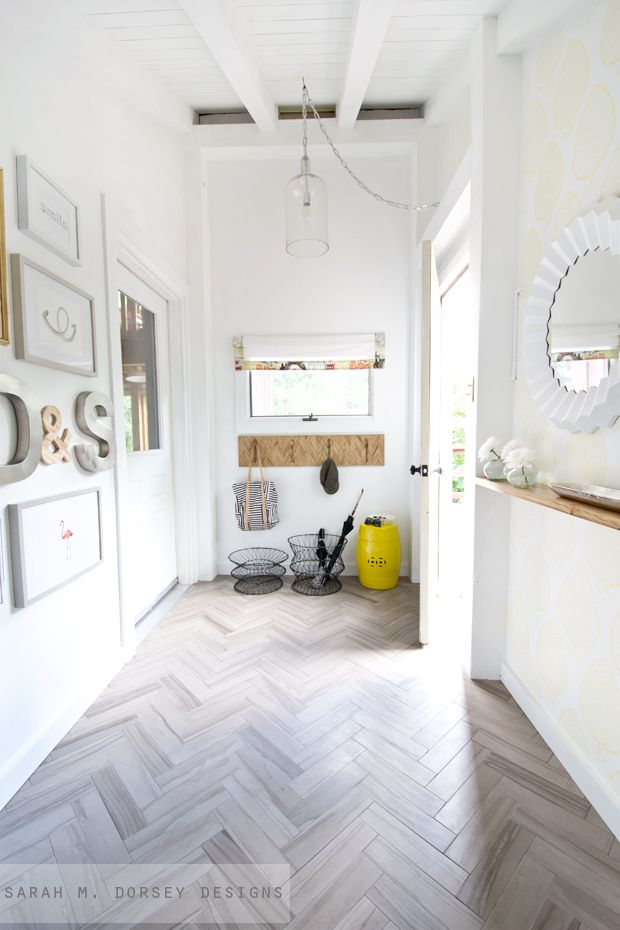 This DIY entryway is insanely gorgeous by Sarah M. Dorsey Designs ...