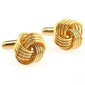 Gold Metal Knot Cufflinks for men,High quality cufflink repairs