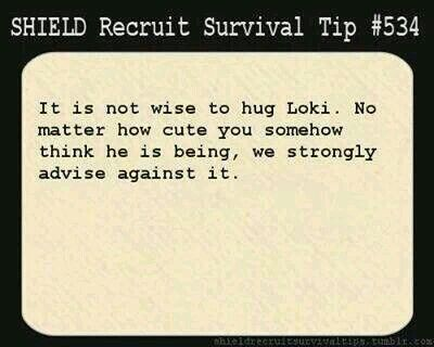 Screw you!! Nothing can stop me from hugging Loki!
