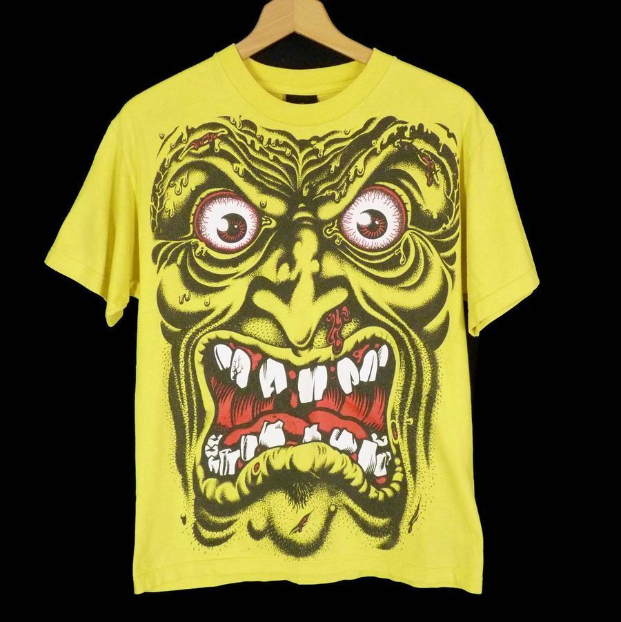 Vintage NHS Scary Face T-Shirt M Independent Skateboard Skate Surf Graphics #NHS #GraphicTee