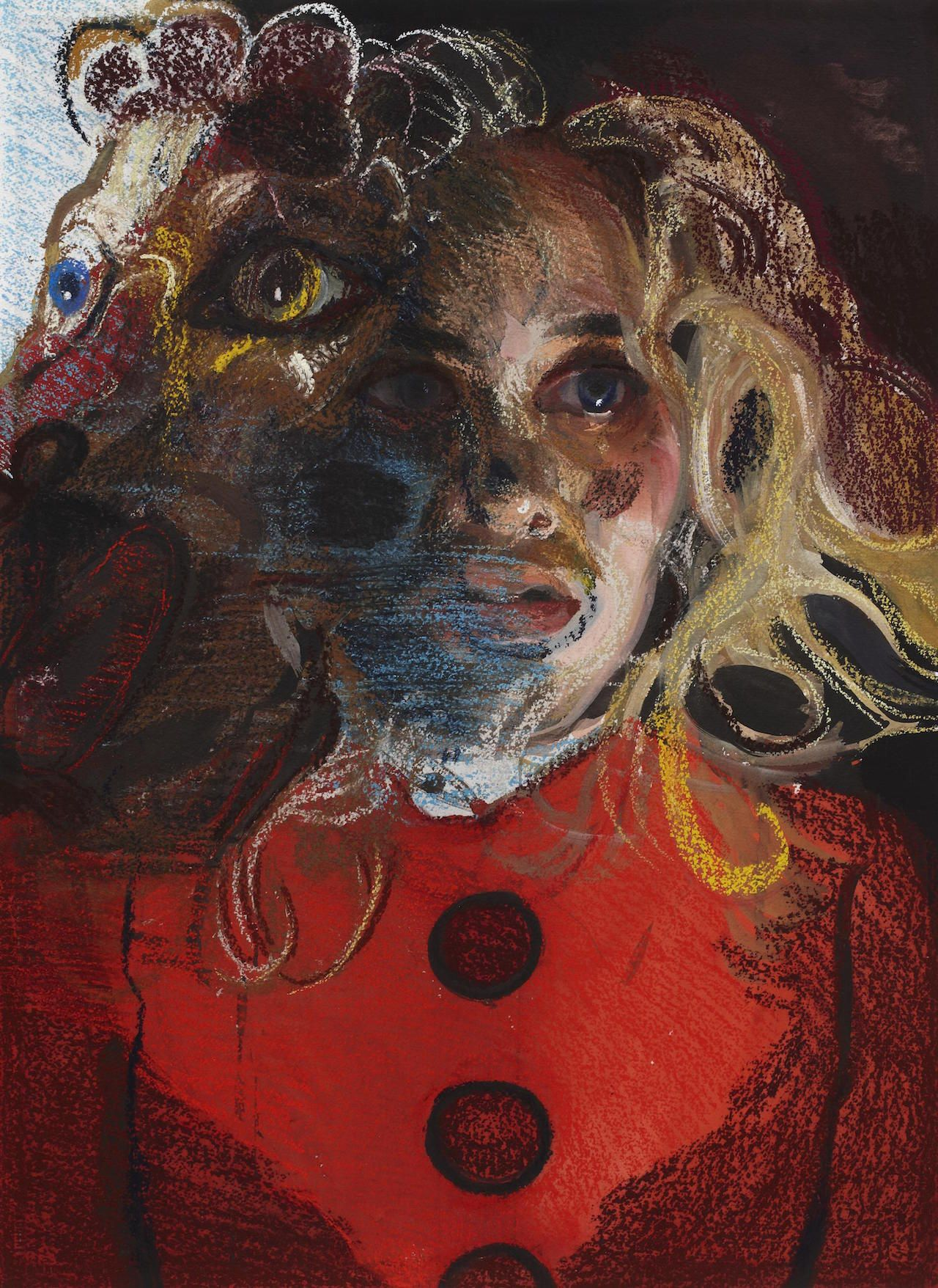 "Natalie Frank, ""All Fur III"" (2011-14), gouache and chalk pastel on Arches"