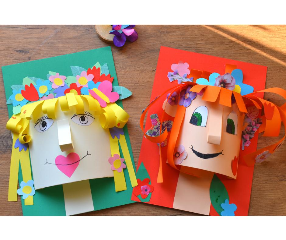 Pani Wiosna Portret Twarz 3d Praca Plastyczna Praca Plastyczna Twarz Portet Praca Plastyczna Wiosna Wlosy Kwiaty Plas Crafts Art Lesson Plans Gift Wrapping