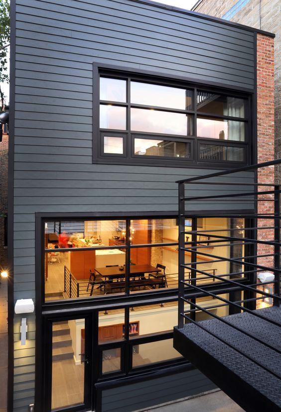 Hardie Fiber Cement Board Siding House Cladding Modern House Exterior Exterior Cladding