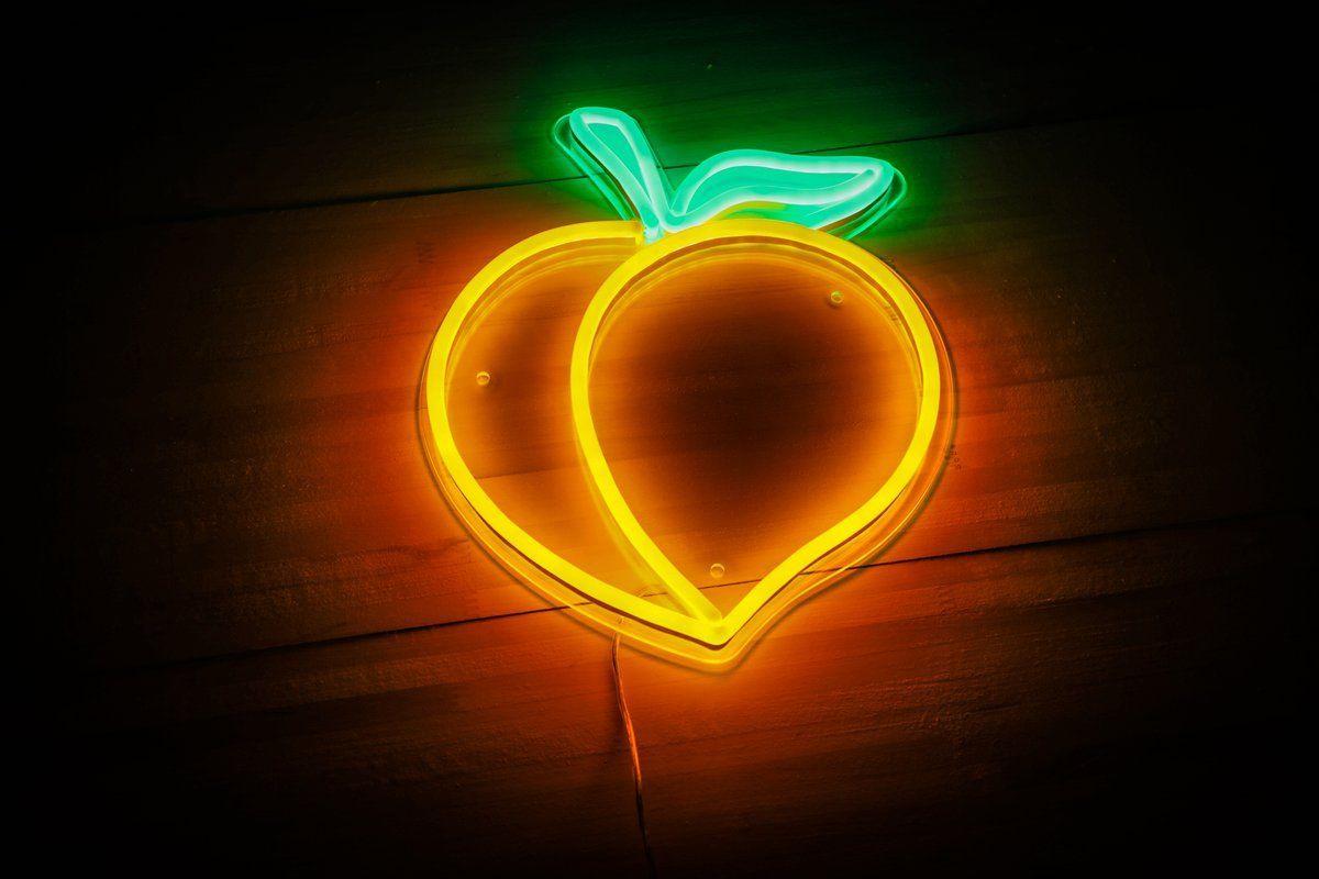 LED Neon Peach sign Néon d'enseigne, Panneau led