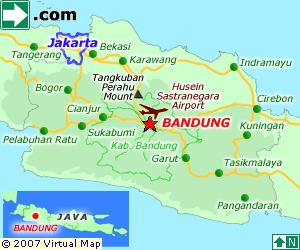 Bandung and Jakarta Map Indonesia Travel Travel Deals
