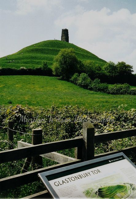 English Landscape Photography, nature landscape, English countryside, green, meadow, green grass  - Glastonbury Tor, 8 x 12