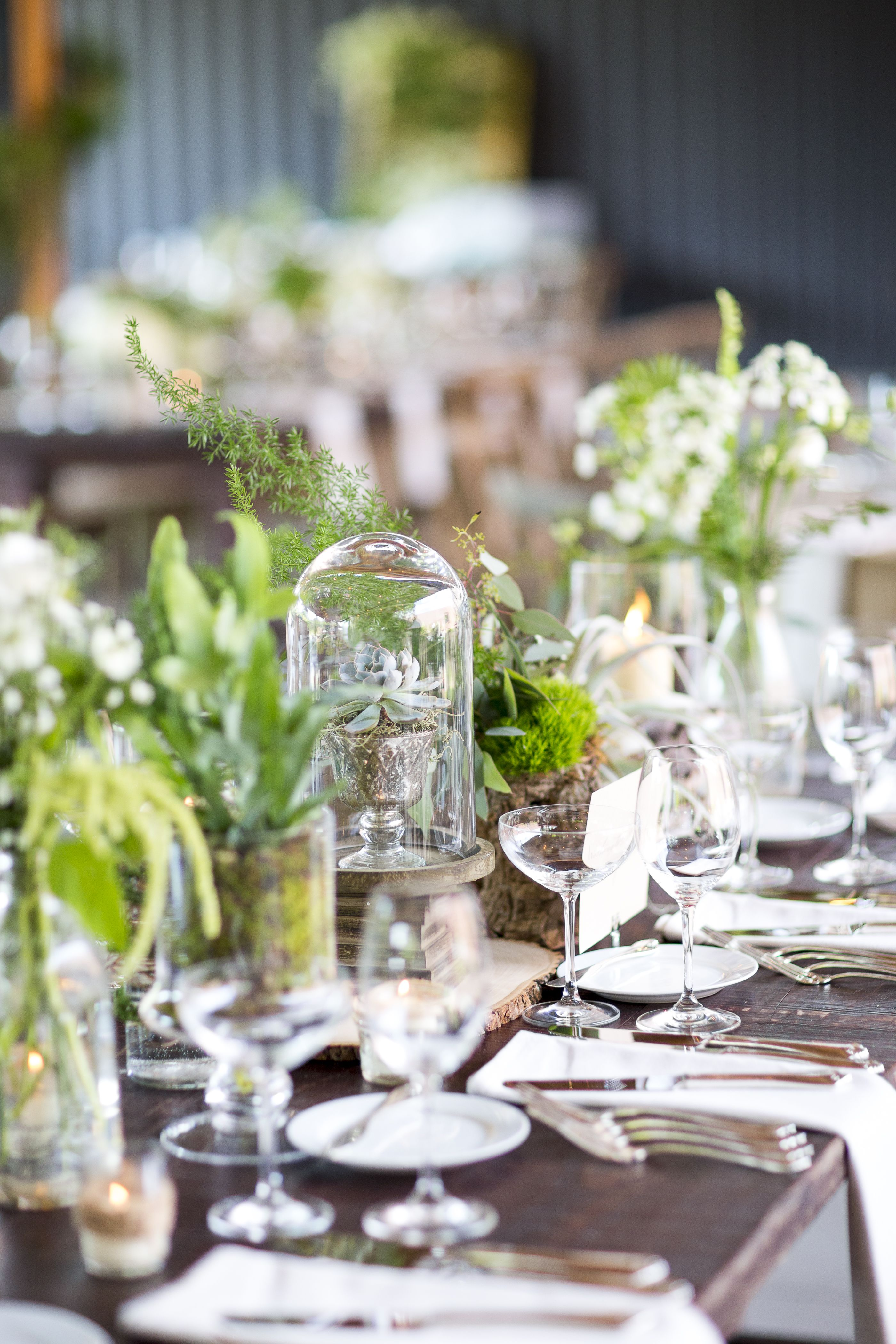 Eclectic natural greenery and wooden centerpieces wedding eclectic natural greenery and wooden centerpieces junglespirit Images