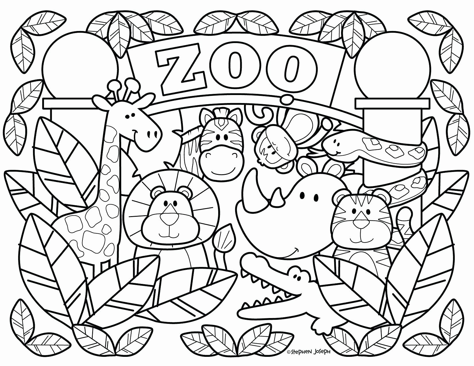 Coloring Pages Zoo Animals Preschool In 2020 Zoo Animal Coloring