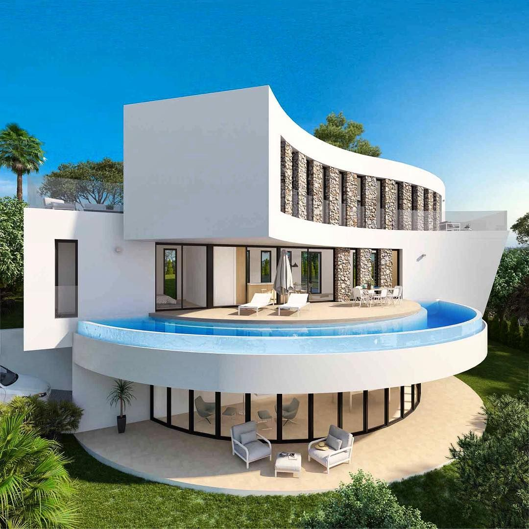 Mona Lund Litland On Instagram Lyst Pa Dette Huset Reklame Jeg Samarbeider Med Camarsolspain Og K Architecture House Designs Exterior Modern Architecture