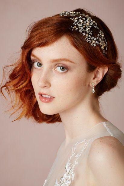 Brautfrisuren Für Kurze Haare Hochzeit Pinterest Braut Haare