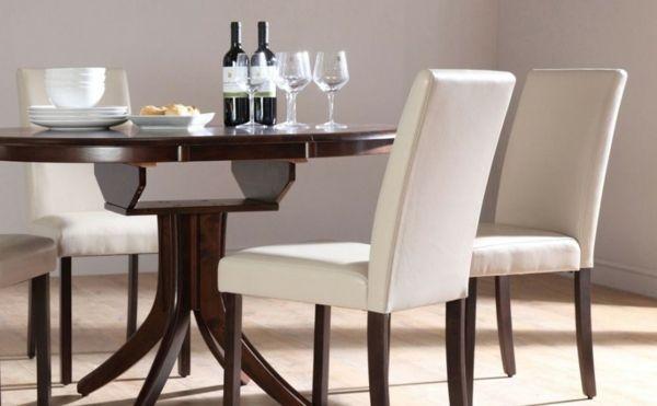 Wunderbar Esszimmer Design Runder Esstisch Weiße Stühle