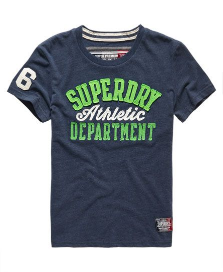 Mens - Core Applique T-shirt in Airforce Marl