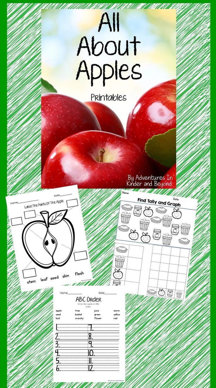 All about apples printables math activities elementary