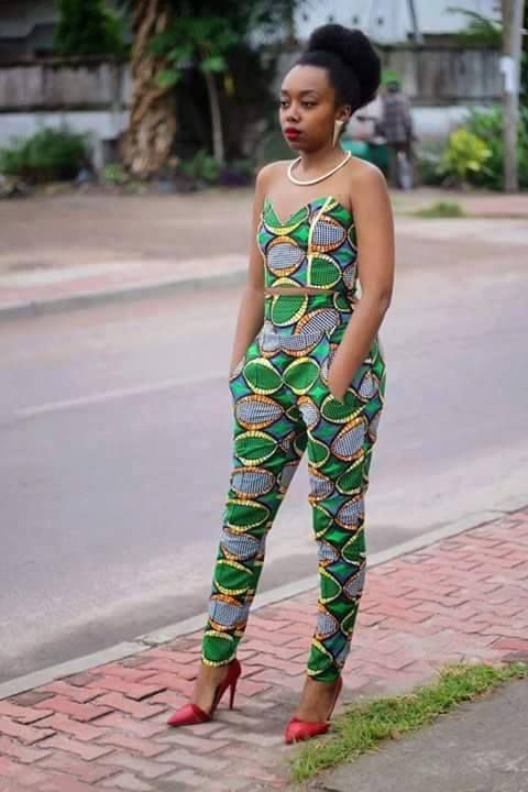 High Waist Pants And Crop Top In 2019 African Print