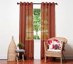 Amazon Com 2 Peice Set Sheer Grommet Panels 84 Long Rust