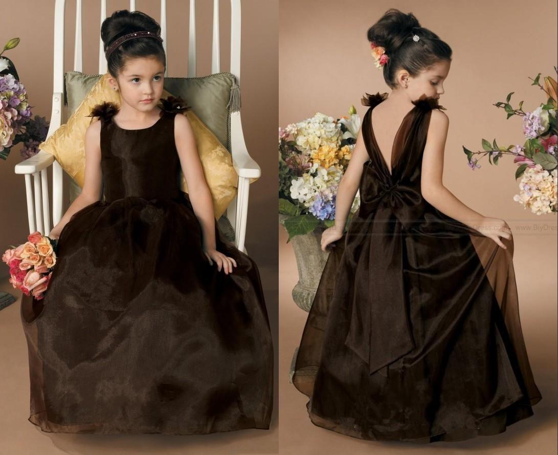 Cheap Black Flower Girl Dresses Glitz Sheer Jewel Little Girl Formal