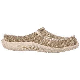 5fbd85aae795 Skechers Women s Reggae Fest Memory Foam Relaxed Fit Clog Shoes (Tan)