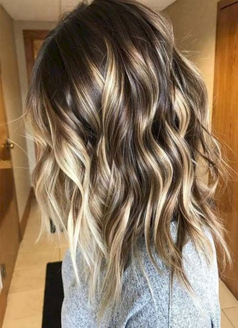 Color Styles For Long Hair: Winter/Spring Hairstyles Ideas 2018 Balayage Highlights