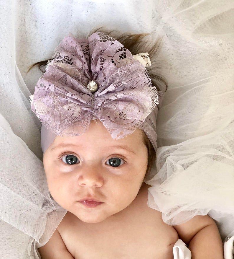 Designer handmade boho flower baby girl headband great for