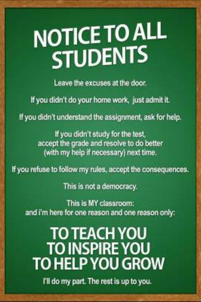 How can I get this made into a HUGE door poster - I  sc 1 st  Pinterest & Notice to all Students Classroom Rules Poster 13 x 19in | Door ...