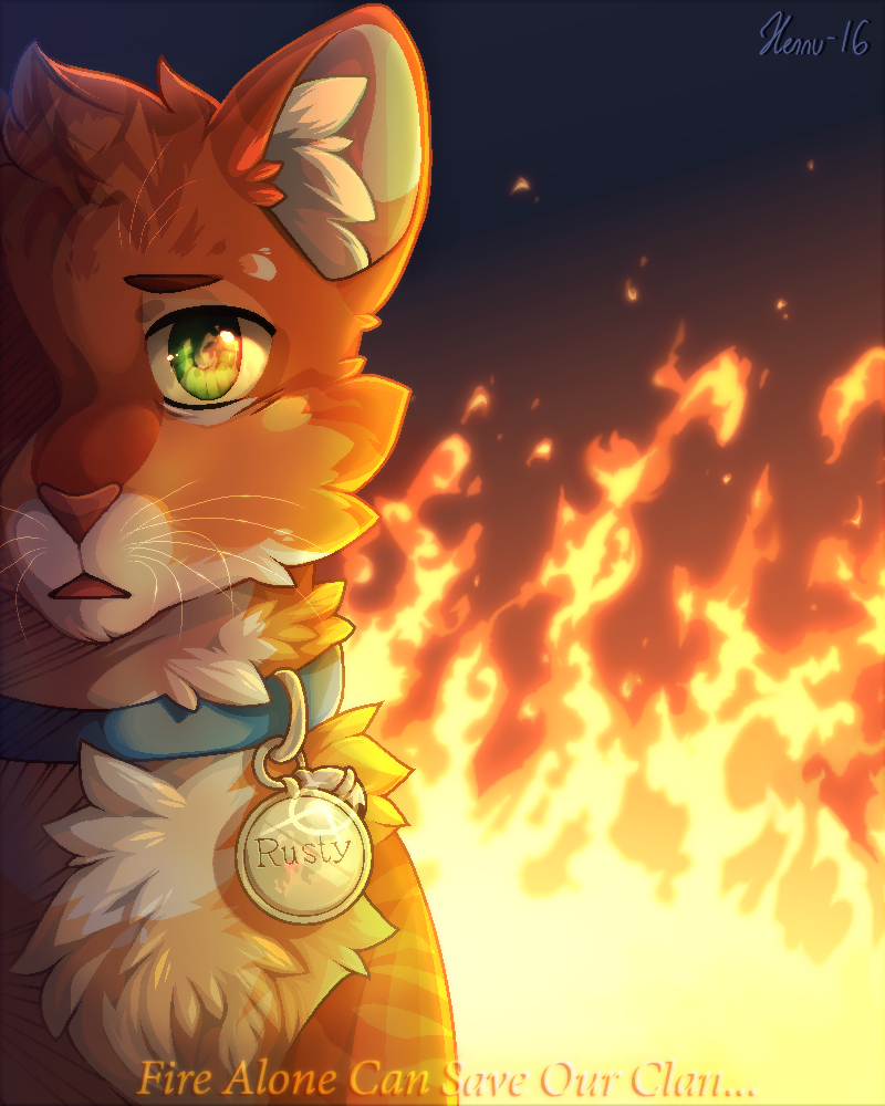 Warrior Cats Dawn Of The Clans Fanart: Fire Alone Can Save Our Clan... 2016 By MeggisCat
