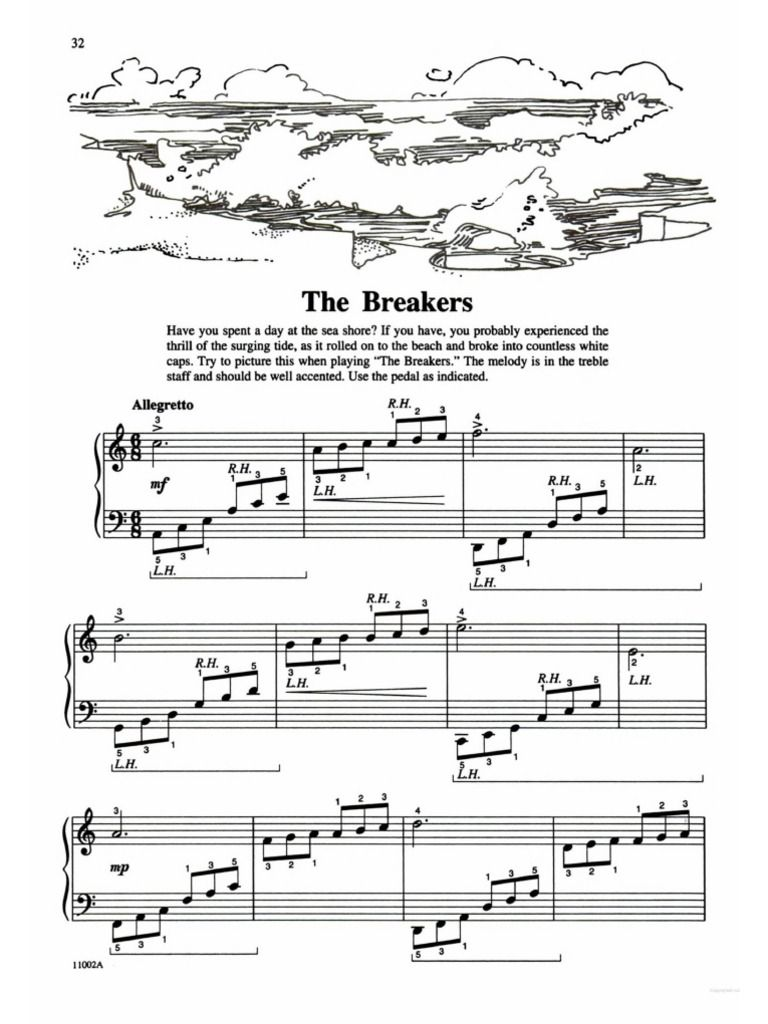 Michael Aaron Piano Course Lessons Grade 2 No 23 The Breakers P