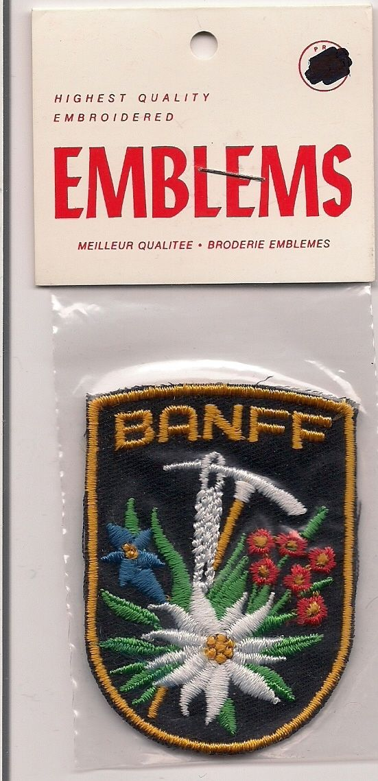 Colorful Souvenir Patch Of Banff Canada Ebay Patches Patches