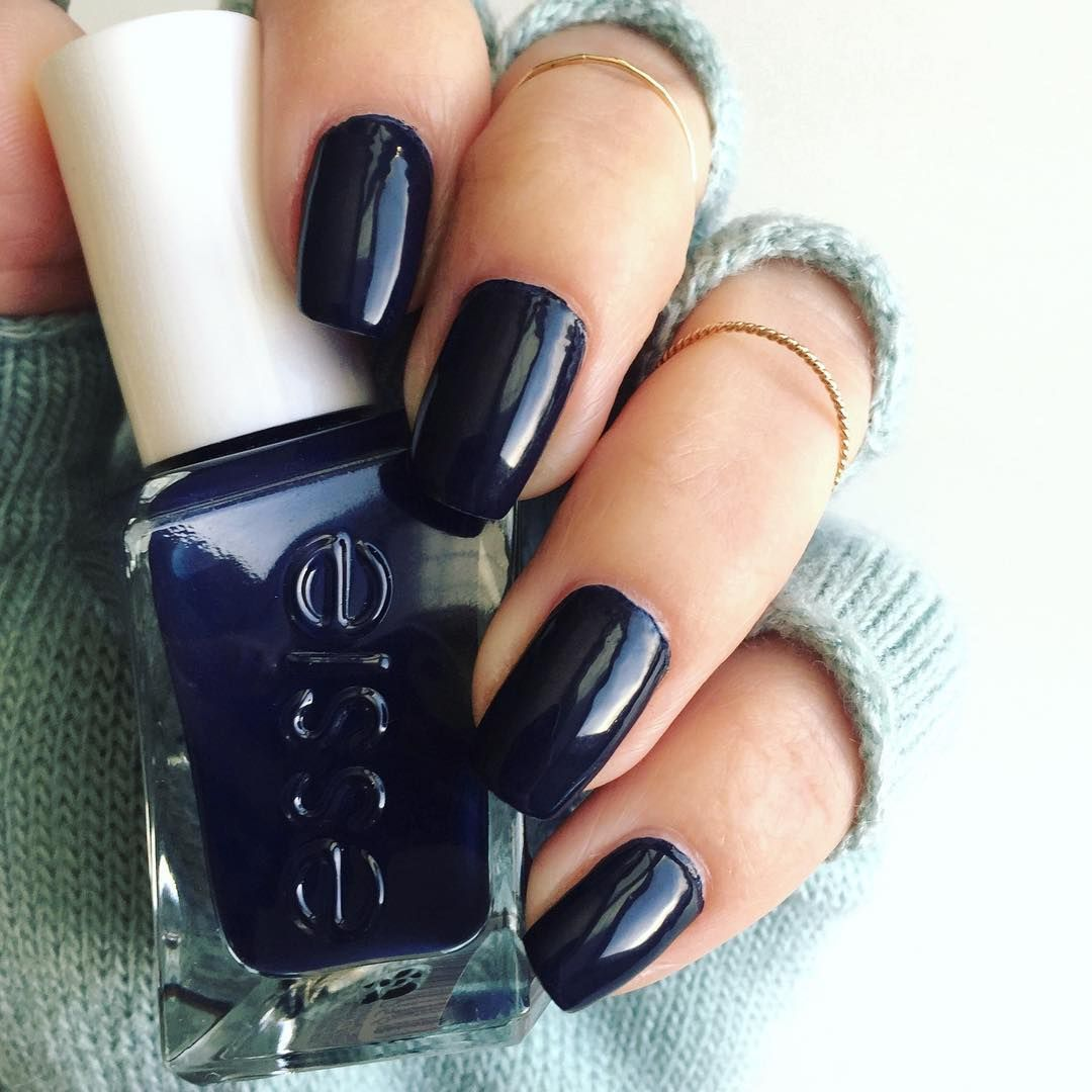 Racy. Rare. Rich. Dive into decadence and discover the heart of darkness in this magnificent deep navy. Introducing essie 'caviar bar' from gel couture. A long-wear nail polish in 2 easy steps that lasts up to 14 days. No base coat. No UV or LED lights. Shop this gorgeous shade for the perfect manicure: http://www.essie.com/gel-couture/colors/Deeps/caviar-bar.aspx