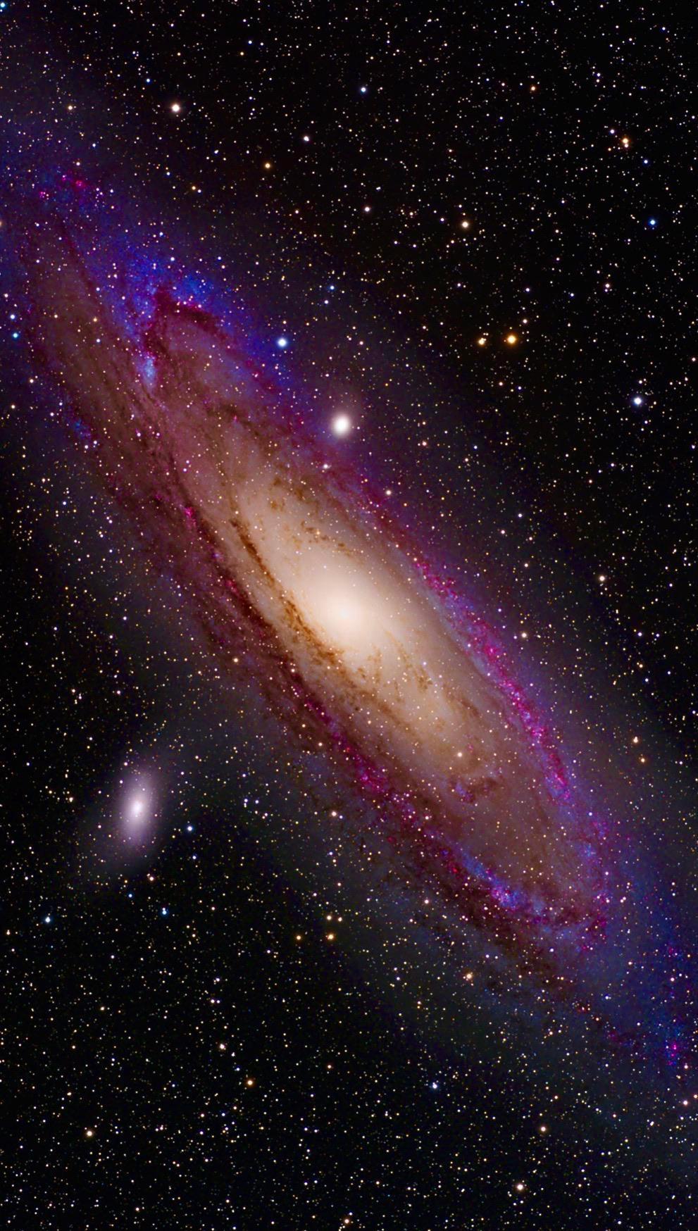 Enhanced Andromeda Galaxy Galaxy Pictures Galaxy Painting Andromeda Galaxy