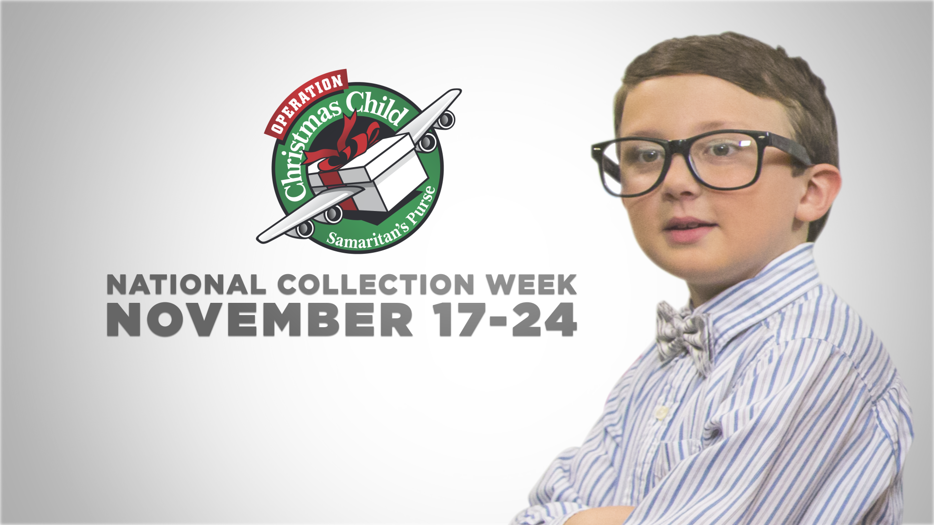 Operation Christmas Child National Shoebox Collection is November 17-24. If the new kid can learn to pack a box, so can you!