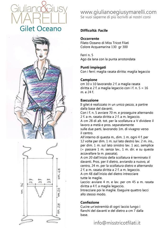 Pin de Il filo en Schede a maglia di GIuliano e Giusy Marelli ...