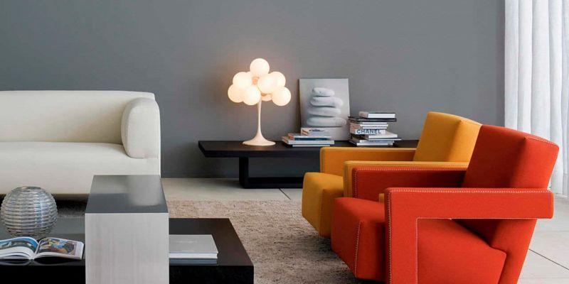 Fauteuil 637 Utrecht Signe Gerrit Thomas Rietveld Et Edite Par Cassina Table Basse Salon Design Mobilier Contemporain Idees De Decor