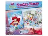 Cenário Disney A Pequena Sereia 32 Páginas - com 6 Canetas para Colorir - DCL