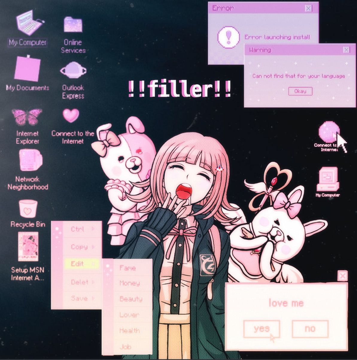 Filler Post I Edited For My Insta Just Bee732 Bee Art Computer Online Anime