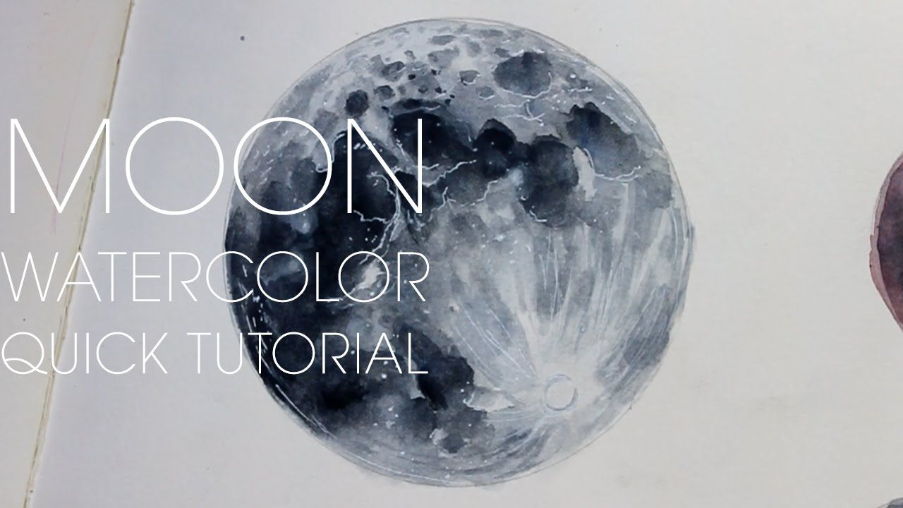 QUICK TUTORIAL #1] MOONLIKE Planets | ❤ art - watercolor.painting ...