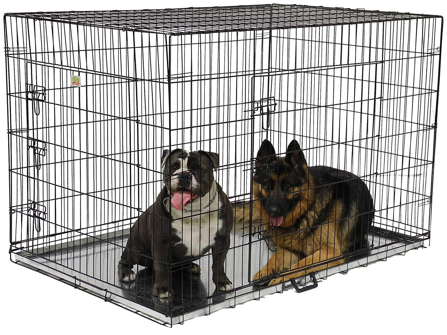 Folding Wire Dog Crate With Divider More Info Could Be Found At The Image Url This Is An Affiliate Link Dog Cages Wire Dog Crates Dogs