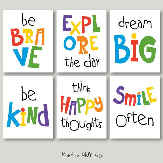 150 Best Printable Wall Art Quote Posters Nursery Kids: Motivational Quote Playroom Download Kid Room