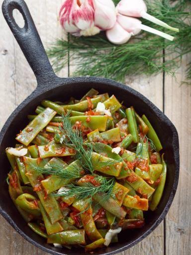 wok de l gumes aux haricots plats recette wok de legumes les haricots et haricots. Black Bedroom Furniture Sets. Home Design Ideas