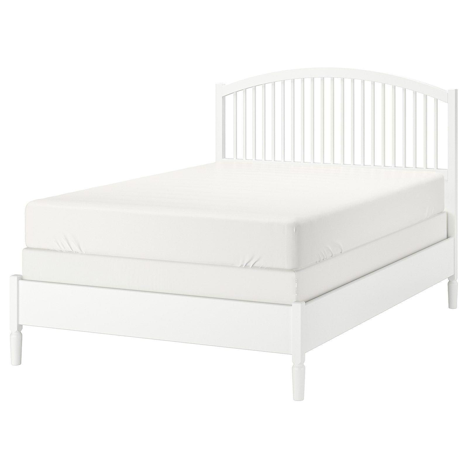 Tyssedal Bed Frame White Eidfjord Queen Ikea In 2020 Bed