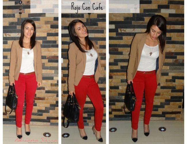 Combina Tu Pantalon Rojo Pantalones Rojos Pantalon Rojo Combinacion Outfit Pantalon Rojo