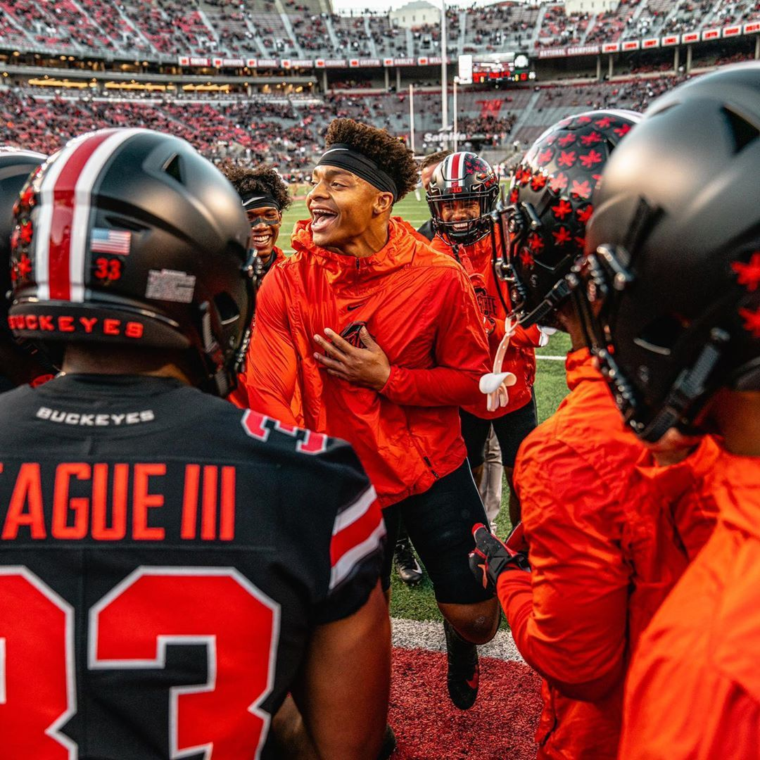 Justin Fields On Instagram Love For The Game Ohio State Buckeyes Football Ohio State Football Buckeye Nation