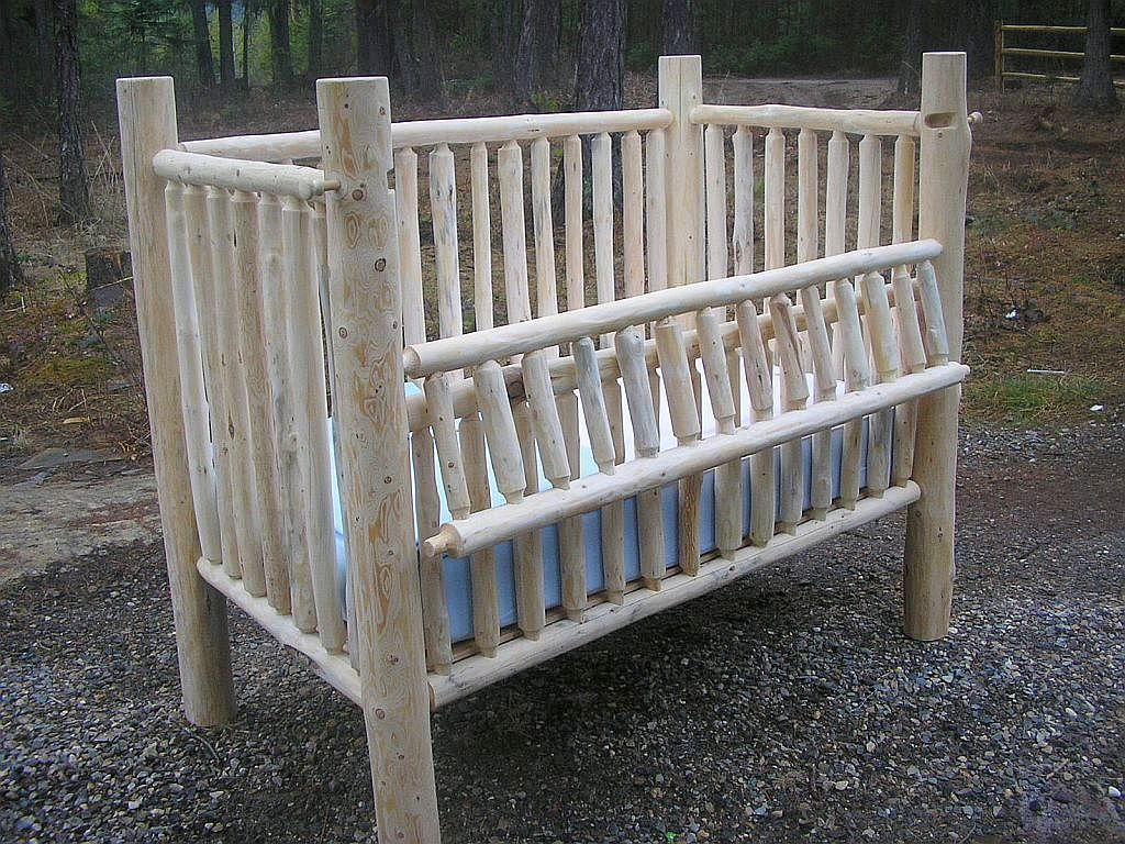 Baby crib youth bed - Creator Birthplace Of The First Convertible Log Baby Crib