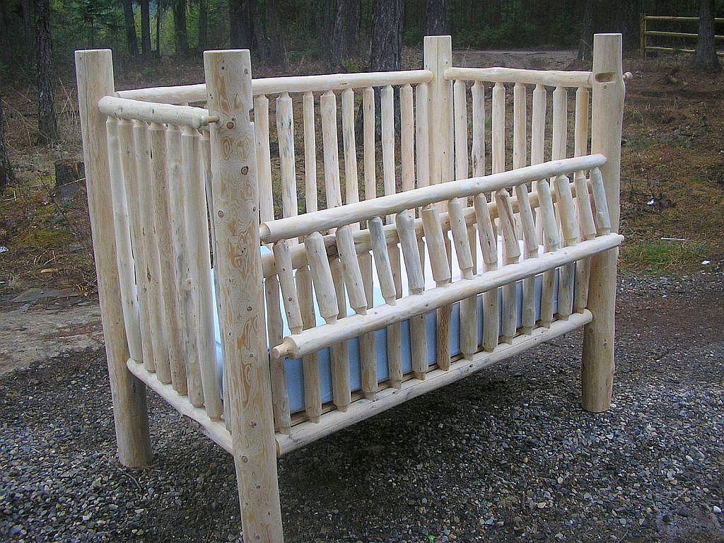 M s de 25 ideas incre bles sobre cuna de troncos de madera - Cunas rusticas para bebes ...