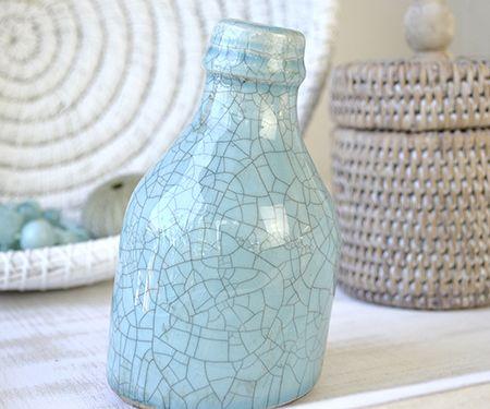 Homewares & Home Decor Online-Aqua Bottle Top Vase-Home & Living